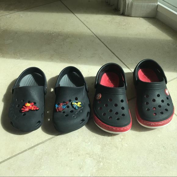 dd964b256 CROCS Other - 2 pairs of Crocs croc bands clog 10 11 w  Jibbitz